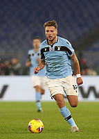 Football, Serie A: S.S. Lazio - Napoli, Olympic stadium, Rome, January 11, 2020.<br /> Lazio's Ciro Immobile in action during the Italian Serie A football match between S.S. Lazio and Napoli at Rome's Olympic stadium, Rome , on January 11, 2020.<br /> UPDATE IMAGES PRESS/Isabella Bonotto