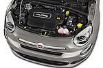Car Stock 2017 Fiat 500X Lounge 5 Door SUV Engine  high angle detail view