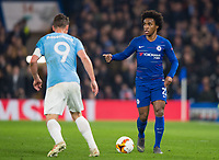 Chelsea's William during the UEFA Europa League match between Chelsea and Malmo at Stamford Bridge, London, England on 21 February 2019. Photo by Andrew Aleksiejczuk / PRiME Media Images.