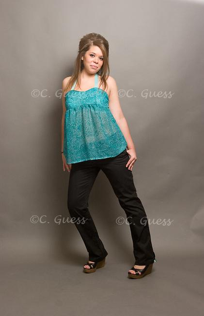 A fashion shoot for Emily Vermillion's fashion portfolio shot on November 1, 2009.