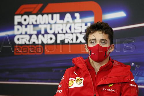 12th November 2020; Istanbul Park, Istanbul, Turkey;  FIA Formula One World Championship 2020, Grand Prix of Turkey, 16 Charles Leclerc MCO, Scuderia Ferrari Mission Winnow pre race press conference