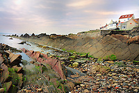 SC - PENINSULA FIFE<br /> St. Monans coastline -Rocky crags similar to a dragon's tail.<br /> <br /> Full size: 69,3 MB