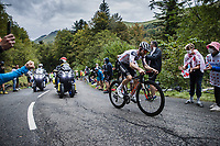 Marc Hirschi (SUI/Team Sunweb) solo in the attack up the Col de Marie Blanque <br /> <br /> <br /> Stage 9 from Pau to Laruns 153km<br /> 107th Tour de France 2020 (2.UWT)<br /> (the 'postponed edition' held in september)<br /> ©kramon