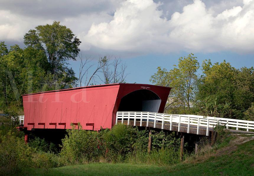 Roseman Bridge (built in 1883), Madison County, Iowa (graffiti has been digitally removed)