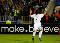 Partizan player Cleo, score the goal, during  UEFA Champions league match in group H FC Partizan Belgrade Vs. Arsenal, London, Serbia, Monday, Sept. 28, 2010.  (Srdjan Stevanovic/Starsportphoto.com)