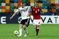 Lukas Klostermann of Germany , Mathias Jensen of Denmark <br /> Udine 17-06-2019 Stadio Friuli <br /> Football UEFA Under 21 Championship Italy 2019<br /> Group Stage - Final Tournament Group A<br /> Germany - Denmark  <br /> Photo Cesare Purini / Insidefoto