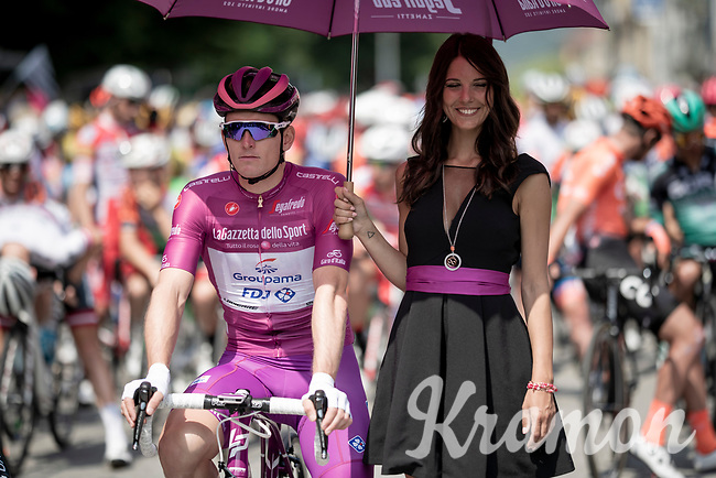 Arnaud Démare (FRA/Groupama-FDJ) at the race start line in Pinerelo<br /> <br /> Stage 13: Pinerolo to Ceresole Reale/Lago Serrù (196km)<br /> 102nd Giro d'Italia 2019<br /> <br /> ©kramon