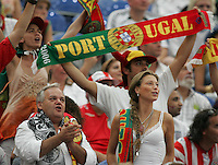 Portuguese Fans.  Portugal defeated England on penalty kicks after playing to a 0-0 tie in regulation in their FIFA World Cup quarterfinal match at FIFA World Cup Stadium in Gelsenkirchen, Germany, July 1, 2006.