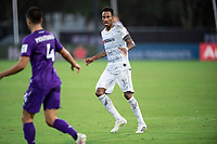 LAKE BUENA VISTA, FL - JULY 31: Mark-Anthony Kaye #14 of LAFC waits for the ball during a game between Orlando City SC and Los Angeles FC at ESPN Wide World of Sports on July 31, 2020 in Lake Buena Vista, Florida.