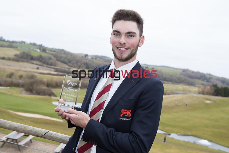 Wales Golf Awards 2017<br /> Jack Davidson, Amateur Golfer of the Year.<br /> Celtic Manor Resort<br /> 23.03.18<br /> Steve Pope ©Sportingwales