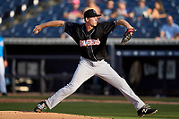 Jupiter Hammerheads pitcher M.D. Johnson (39) during a game against the Tampa Tarpons on July 2, 2021 at George M. Steinbrenner Field in Tampa, Florida.  (Mike Janes/Four Seam Images)
