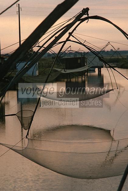 Europe/France/Pays de la Loire/85/Vendée/Env de Beauvoir-sur-Mer: Carrelets Marais Breton vendéen
