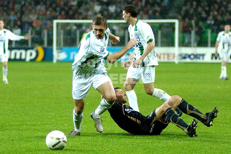 groningen - sparta  eredivisie seizoen 2007-2008 29-09- 2007 levchenko omzeilt tegenstander *** Local Caption ***