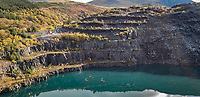 Pictured: Zip World Penhryn Quarry near Bethesda. Saturday 02 November 2019<br /> Re: North Wales, UK.