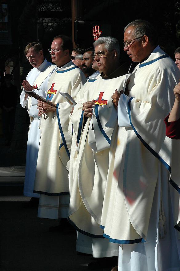AJ Alexander - Padres (Catholic Priests) in Phoenix for a service for the Guadalupe Mass <br /> Photo by AJ Alexander<br /> Owner/Author AJ Alexander