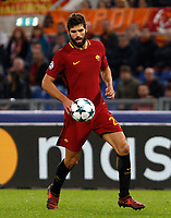 Roma s Federico Fazio in action during the Champions League Group C soccer match between Roma and Chelsea at Rome's Olympic stadium, October 31, 2017.<br /> UPDATE IMAGES PRESS/Riccardo De Luca