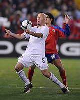 USMNT forward Conor Casey (8) chests the ball.   The USMNT tied Costa Rica 2-2 on the final game of the 2010  FIFA World Cup Qualifying round at RFK Stadium,Wednesday  October 14 , 2009.