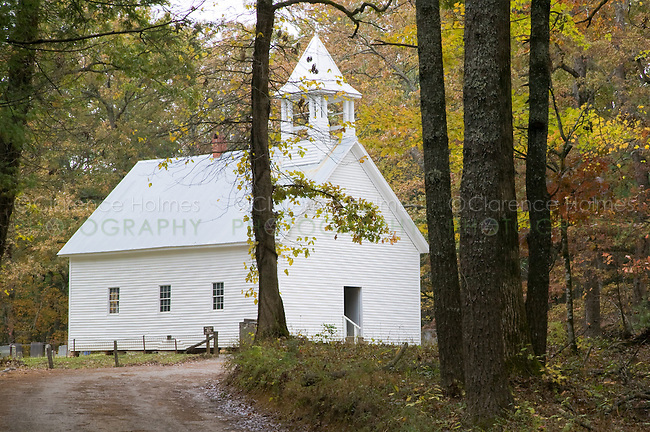 Primitive Baptist Church in Cades Cove, Great Smoky Mountains National Park