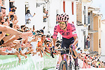 """Magnus Cort (DEN) EF Education-Nippo from the breakaway 30"""" ahead entering the final climb during Stage 11 of La Vuelta d'Espana 2021, running 133.6km from Antequera to Valdepeñas de Jaén, Spain. 25th August 2021.     <br /> Picture: Cxcling 