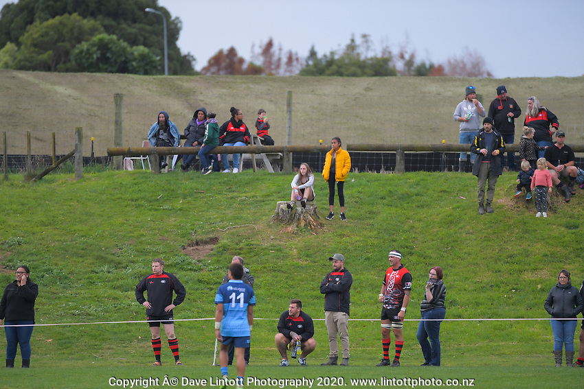 Action from the Horowhenua-Kapiti premier club rugby union match between Waikanae and Levin College Old Boys at Waikanae Domain in Waikanae, New Zealand on Saturday, 27 June 2020. Photo: Dave Lintott / lintottphoto.co.nz