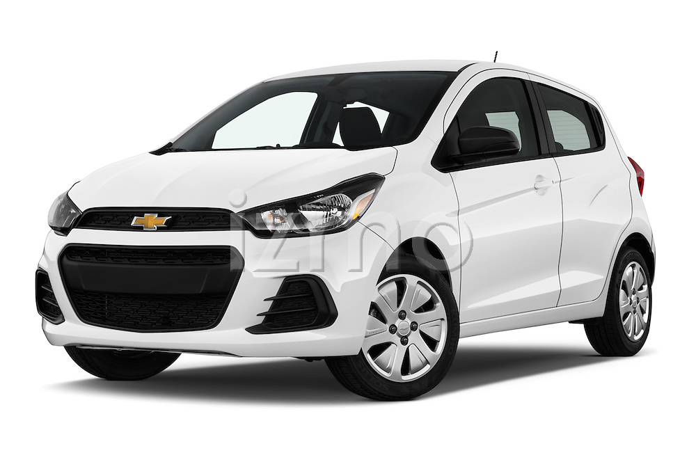 Stock pictures of low aggressive front three quarter view of 2016 Chevrolet Spark LS Manual 1SA 5 Door Hatchback Low Aggressive
