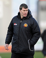 Rob Baxter, Exeter Chiefs Head Coach during the LV= Cup match between Exeter Chiefs and Bath Rugby at Sandy Park Stadium on Sunday 5th February 2012 (Photo by Rob Munro)