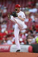 June 18, 2008:  Cincinnati Reds starting pitcher Bronson Arroyo (61) at The Great American Ballpark in Cincinnati, OH.  Photo by:  Chris Proctor/Four Seam Images