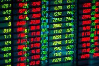 Shenzhen Stock Exchange trading board, Shanghai, China