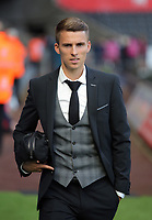 Tom Carroll of Swansea City arrives prior to the game during the Premier League match between Swansea City and Watford at The Liberty Stadium, Swansea, Wales, UK. Saturday 23 September 2017
