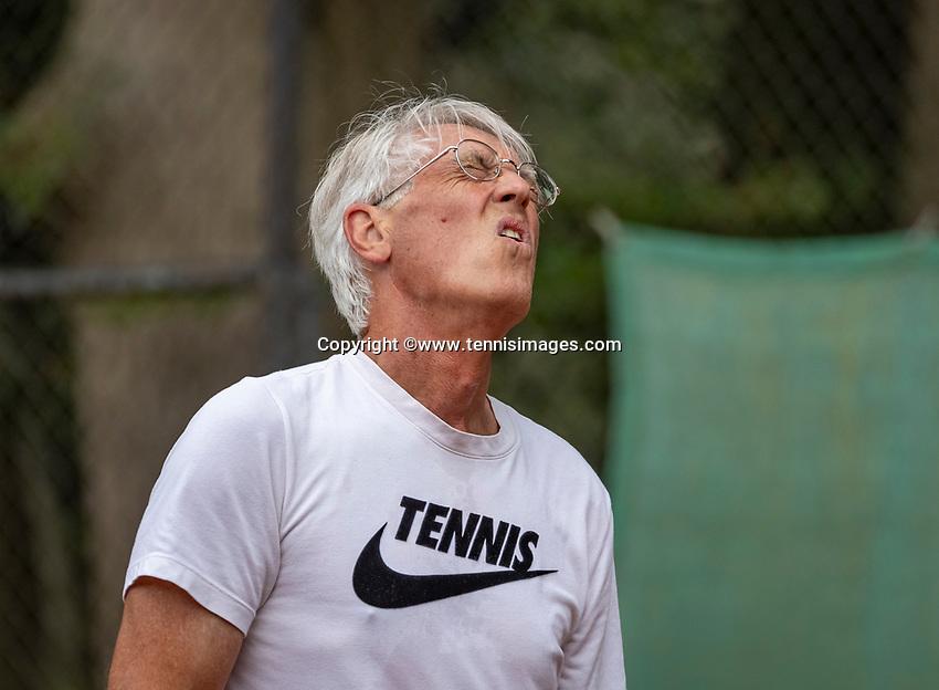 Hilversum, The Netherlands,  August 18, 2020,  Tulip Tennis Center, NKS, National Senior Championships, Men's single 70+ ,  Homme Heida (NED) <br /> Photo: www.tennisimages.com/Henk Koster