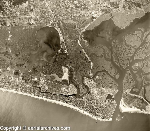 historical aerial photograph of Atlantic City, Atlantic County, New Jersey, 1959