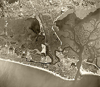 historical aerial photograph of Atlantic City, Atlantic County, New Jersey, 1959