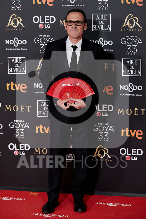 Alberto Iglesias attends to 33rd Goya Awards at Fibes - Conference and Exhibition  in Seville, Spain. February 02, 2019. (ALTERPHOTOS/A. Perez Meca)