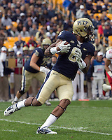 Pitt wide receiver Drew Carswell. The Utah Utes defeated the Pitt Panthers 26-14 at Heinz Field, Pittsburgh, Pennsylvania on October 15, 2011.