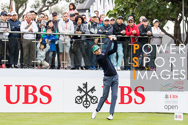 Pedro Oriol of Spain tees off during the day three of UBS Hong Kong Open 2017 at the Hong Kong Golf Club on 25 November 2017, in Hong Kong, Hong Kong. Photo by Yu Chun Christopher Wong / Power Sport Images