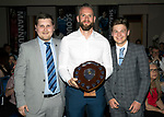 St Johnstone FC Player of the Year Awards 2017-18<br />We Are Perth Fans Forum Exciles Player of the Year is Alan Mannus presented by Joss Marnoch and Saul Marnoch<br />Picture by Graeme Hart.<br />Copyright Perthshire Picture Agency<br />Tel: 01738 623350  Mobile: 07990 594431