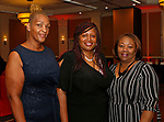 Waterbury, CT 061519MK04 (from left) Lori Green, Sonyu Sharpless and Kristalynn Shell  gathered with the Zion Baptist Church to bid farewell to the Rev. Calbert Brantley and family at the Courtyard by Marriott Saturday evening.   Michael Kabelka / Republican-American