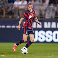 EAST HARTFORD, CT - JULY 1: Megan Rapinoe #15 of the USWNT dribbles the ball during a game between Mexico and USWNT at Rentschler Field on July 1, 2021 in East Hartford, Connecticut.