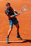 Tomas Berdych from Czech Republic during his Madrid Open tennis tournament semifinal match against Rafa Nadal from Spain in Madrid, Spain. May 09, 2015. (ALTERPHOTOS/Victor Blanco)