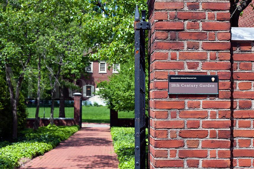 Public gardens, Independence National Historic Park, Philadelphia, PA, Pennsylvania