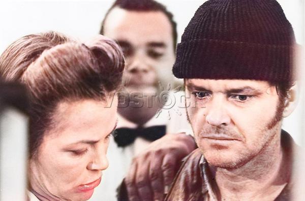 "Кадр из фильма ""Пролетая над гнездом кукушки"" (1975), США; Режиссер: Милош Форман; В ролях: Джек Николсон, Луиза Флетчер, Уилл Сэмпсон. / Filmstill ""One Flew Over the Cuckoo's Nest"" (1975), USA; Director: Milos Forman; Stars: Jack Nicholson, Louise Fletcher, Will Sampson;"