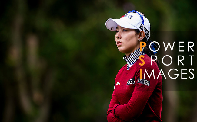 Char-Young Kim of Korea looks on during the Hyundai China Ladies Open 2014 on December 12 2014 at Mission Hills Shenzhen, in Shenzhen, China. Photo by Li Man Yuen / Power Sport Images