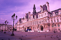 famous square near the Hotel de Ville Paris France