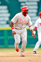 4 September 2005: Ryan Howard, first baseman for the Philadelphia Phillies, on the basepath during a game against the Washington Nationals. The Nationals defeated the Phillies 6-1 at RFK Stadium in Washington, DC. Mandatory Photo Credit: Ed Wolfstein.