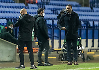 Bolton Wanderers' head coach Ian Evatt (right) <br /> <br /> Photographer Andrew Kearns/CameraSport<br /> <br /> The EFL Sky Bet League Two - Bolton Wanderers v Mansfield Town - Tuesday 3rd November 2020 - University of Bolton Stadium - Bolton<br /> <br /> World Copyright © 2020 CameraSport. All rights reserved. 43 Linden Ave. Countesthorpe. Leicester. England. LE8 5PG - Tel: +44 (0) 116 277 4147 - admin@camerasport.com - www.camerasport.com