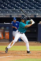 AZL Mariners left fielder DeAires Moses (8) at bat against the AZL Royals on July 29, 2017 at Peoria Stadium in Peoria, Arizona. AZL Royals defeated the AZL Mariners 11-4. (Zachary Lucy/Four Seam Images)