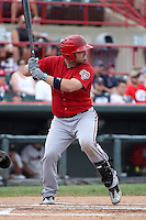 Harrisburg Senators Derek Norris #25 during a game against the Erie SeaWolves at Jerry Uht Park on August 7, 2011 in Erie, Pennsylvania.  Harrisburg defeated Erie 6-1.  (Mike Janes/Four Seam Images)