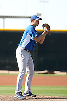 Jeff Francis of the Kansas City Royals  participates in spring training workouts at the Royals complex on March 26, 2011  in Surprise, Arizona. .Photo by:  Bill Mitchell/Four Seam Images.