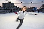 Milano gennaio 2008, Pattinaggio sulla Darsena