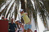 Melissa Reid (ENG)  during round four of the 2014 Omega Dubai Ladies Masters being played over the Majlis Course, Emirates Golf Club, Dubai from 10th to 13th December 2014: Picture Stuart Adams, www.golftourimages.com: 13-Dec-14